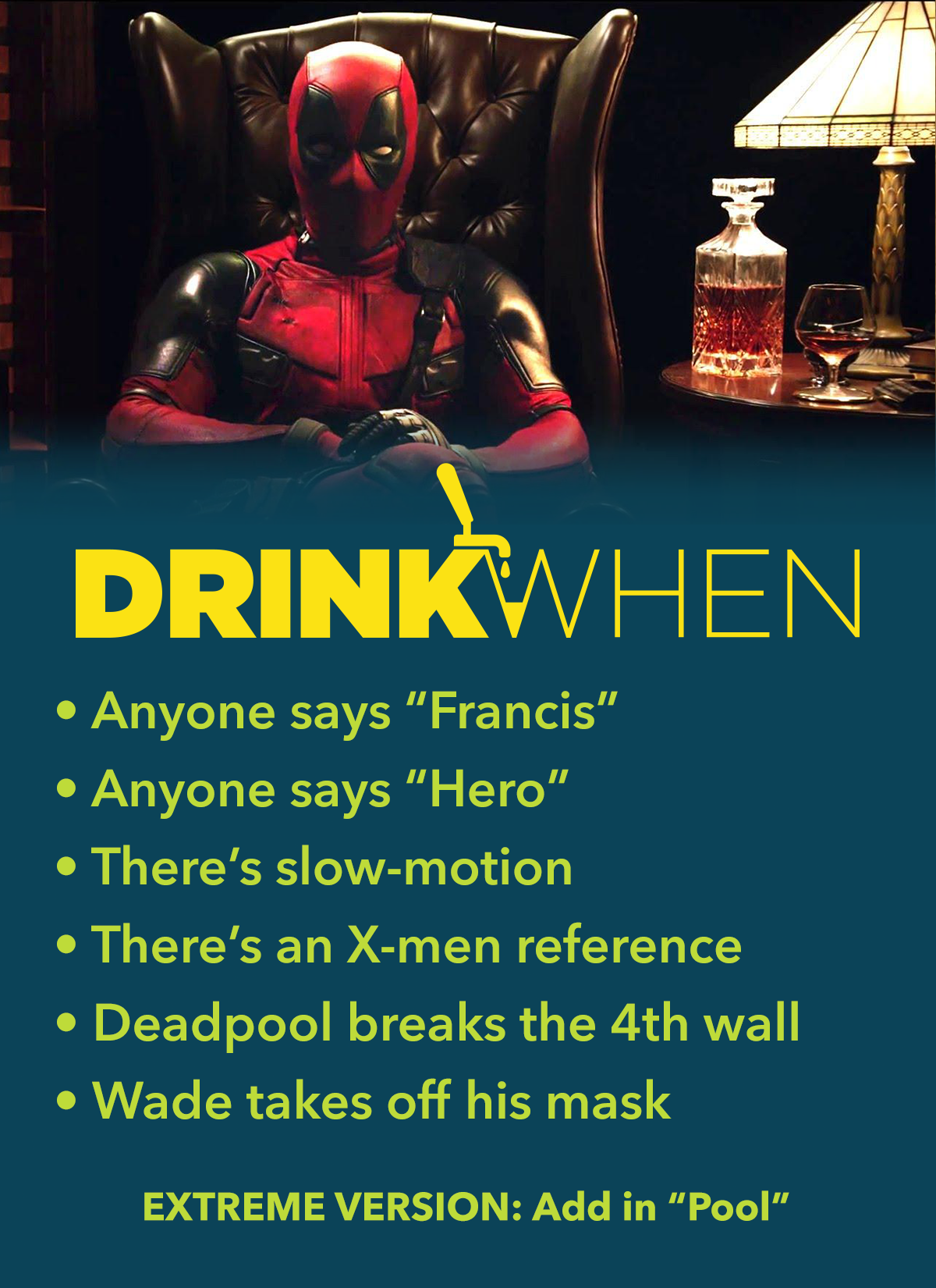 Drink When Deadpool Drinking Game