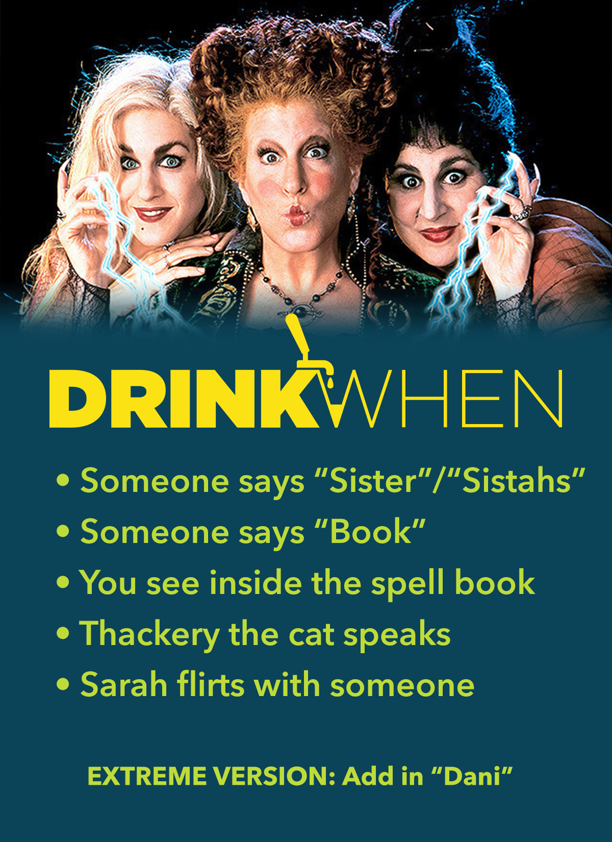 Drink When Hocus Pocus Drinking Game
