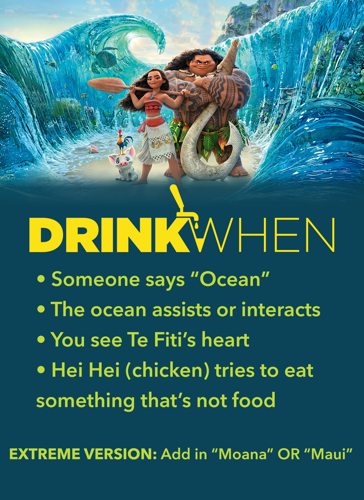 Drink When Moana Drinking Game