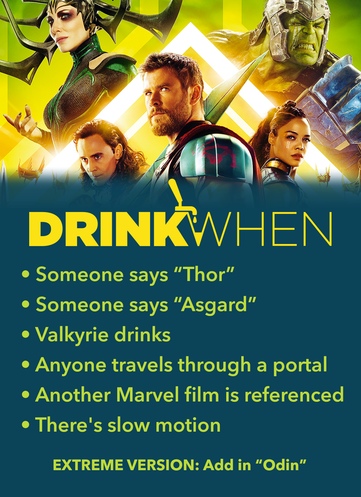 Drink When Thor Ragnarok Drinking Game