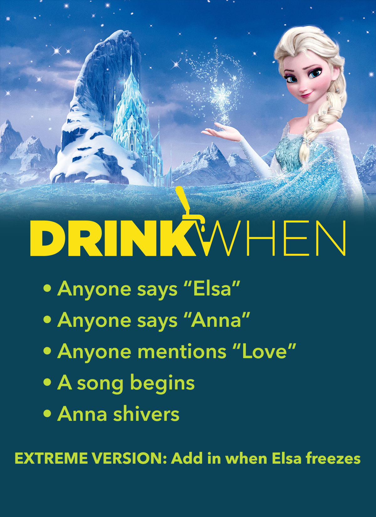 Drink When Frozen Drinking Game