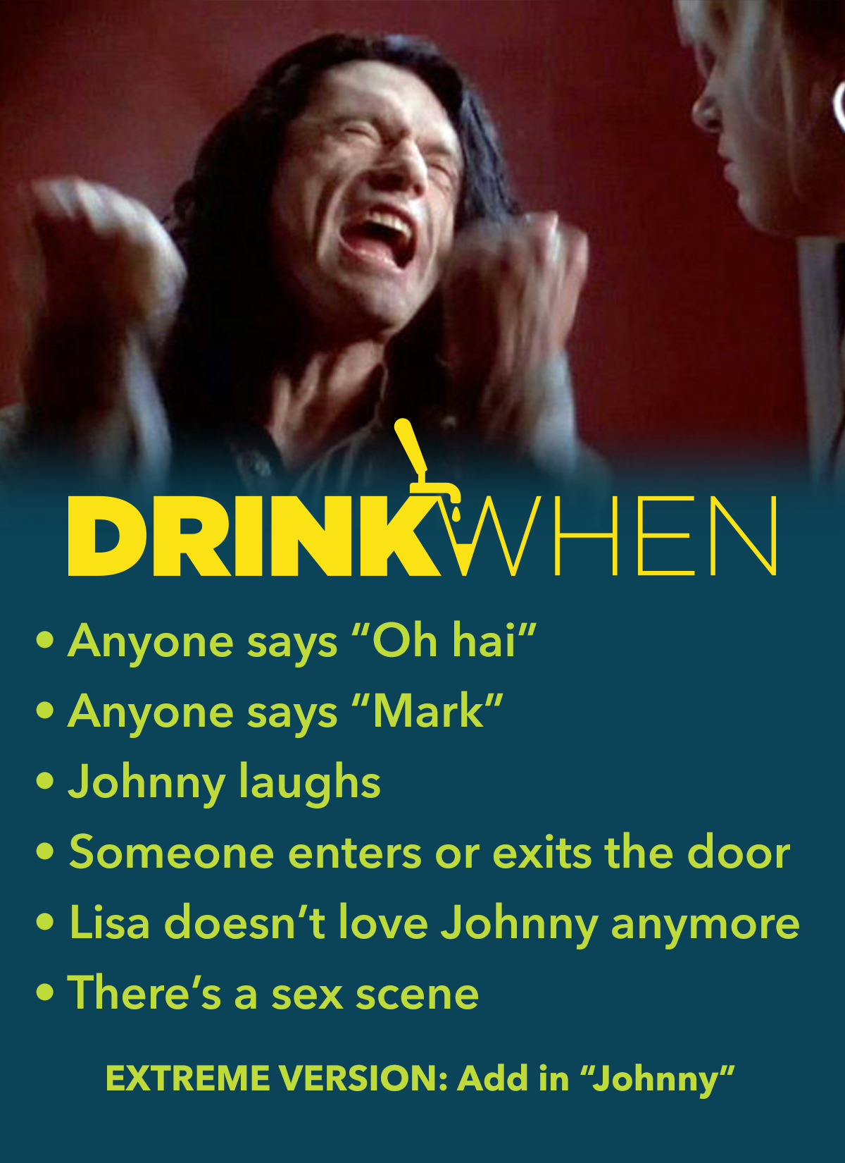 Drink When The Room Drinking Game
