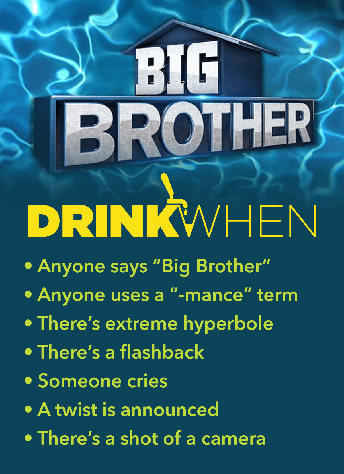 Drink When Big Brother Drinking Game