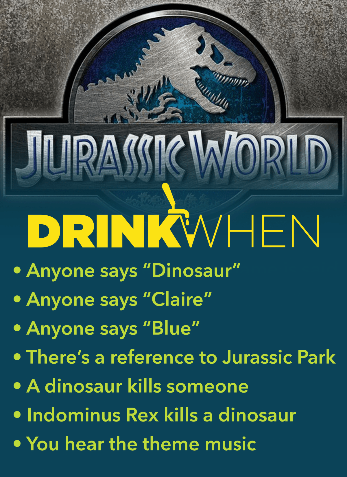 Drink When Jurassic World Drinking Game
