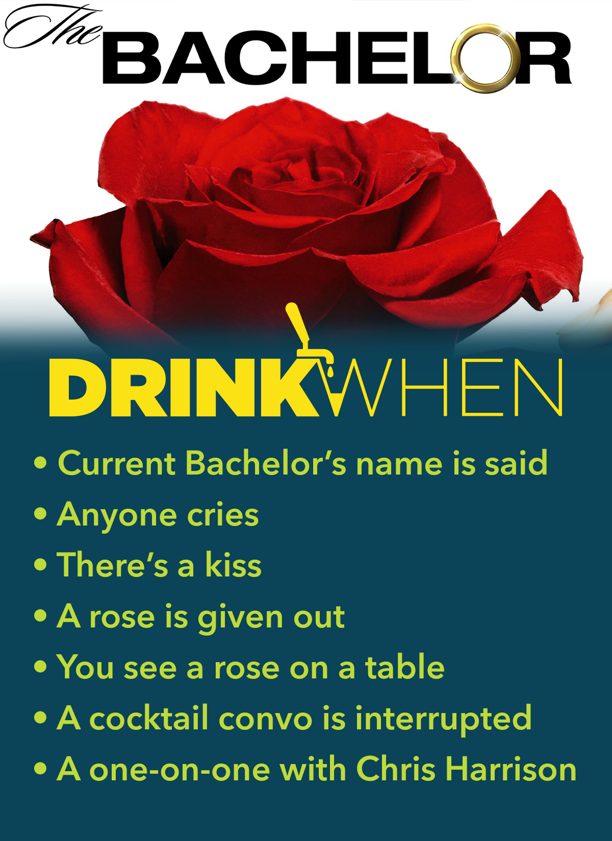 Drink When The Bachelor Drinking Game