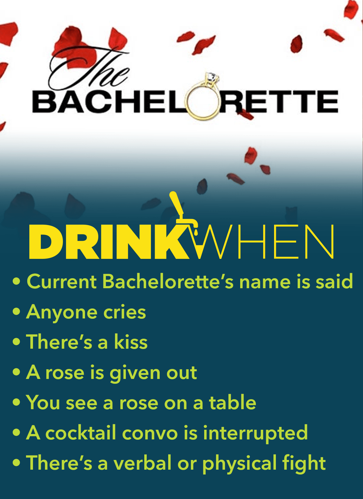 Drink When The Bachelorette Drinking Game