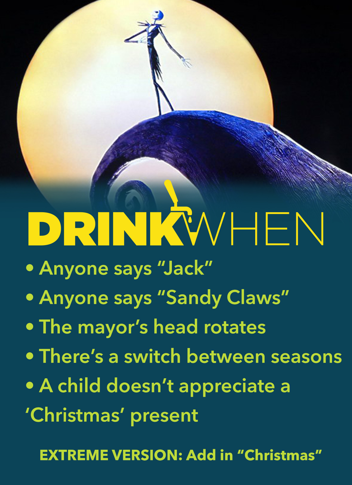 Drink When The Nightmare Before Christmas Drinking Game