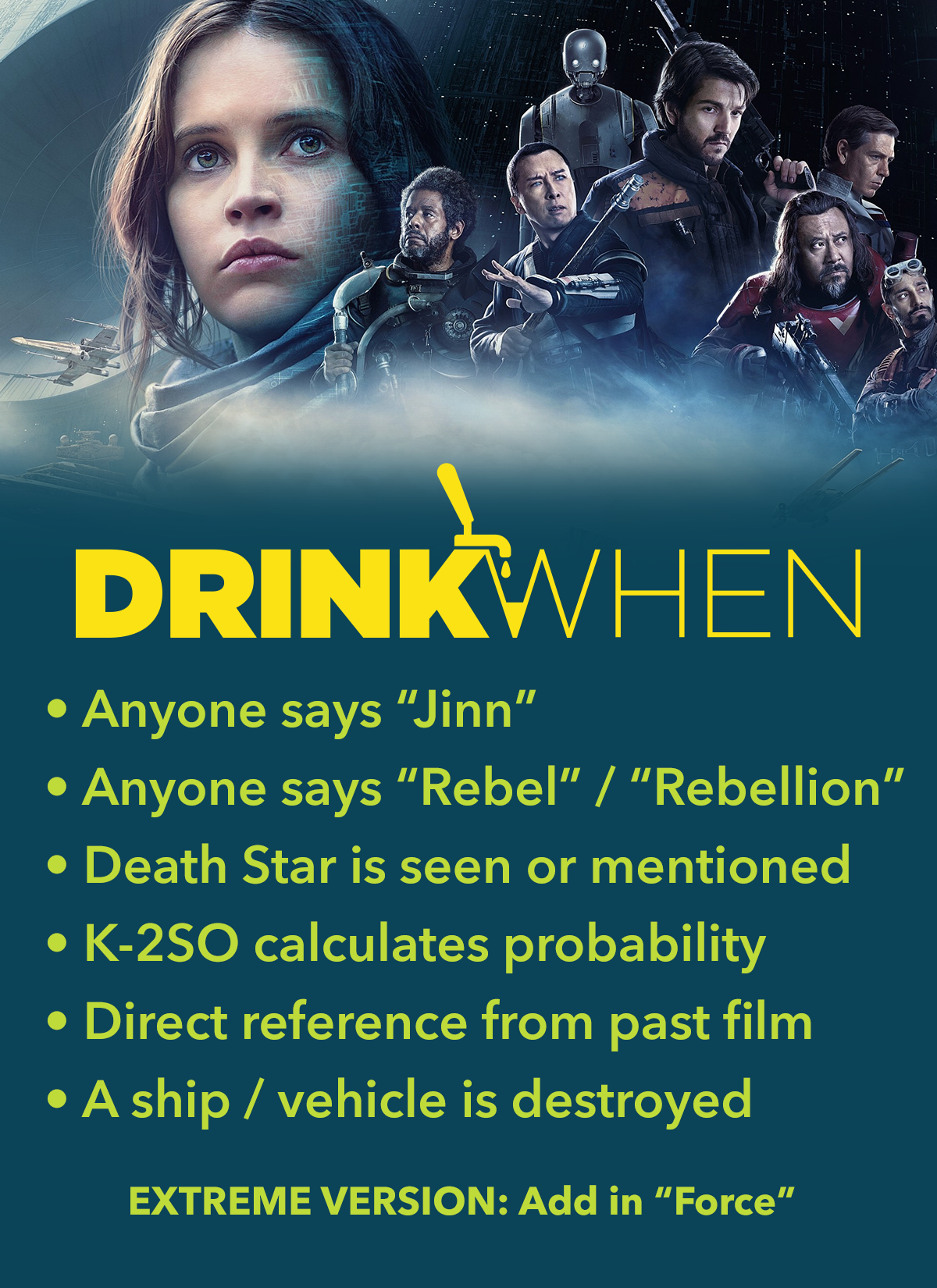 Drink When Star Wars Rogue One Drinking Game