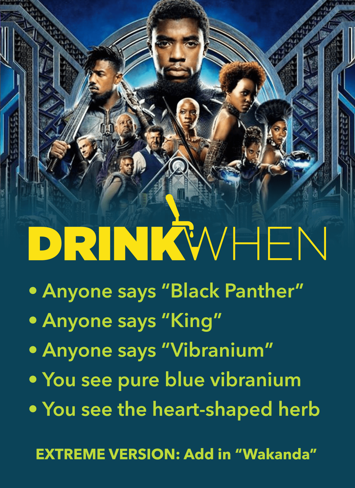 Drink When Black Panther Drinking Game
