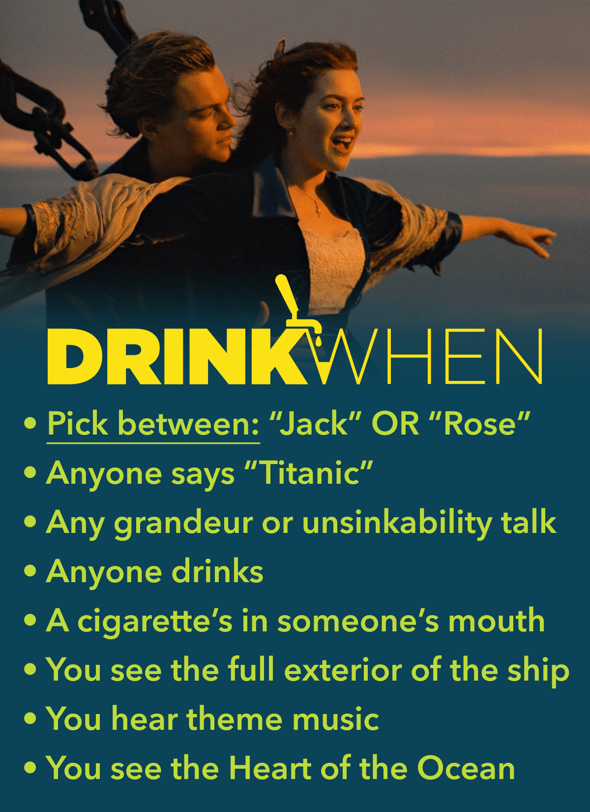 Drink When Titanic Drinking Game