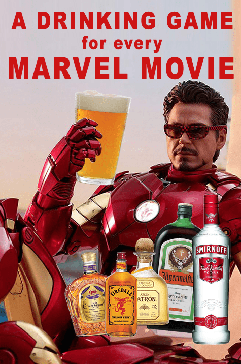 Marvel Movie Drinking Game Pin