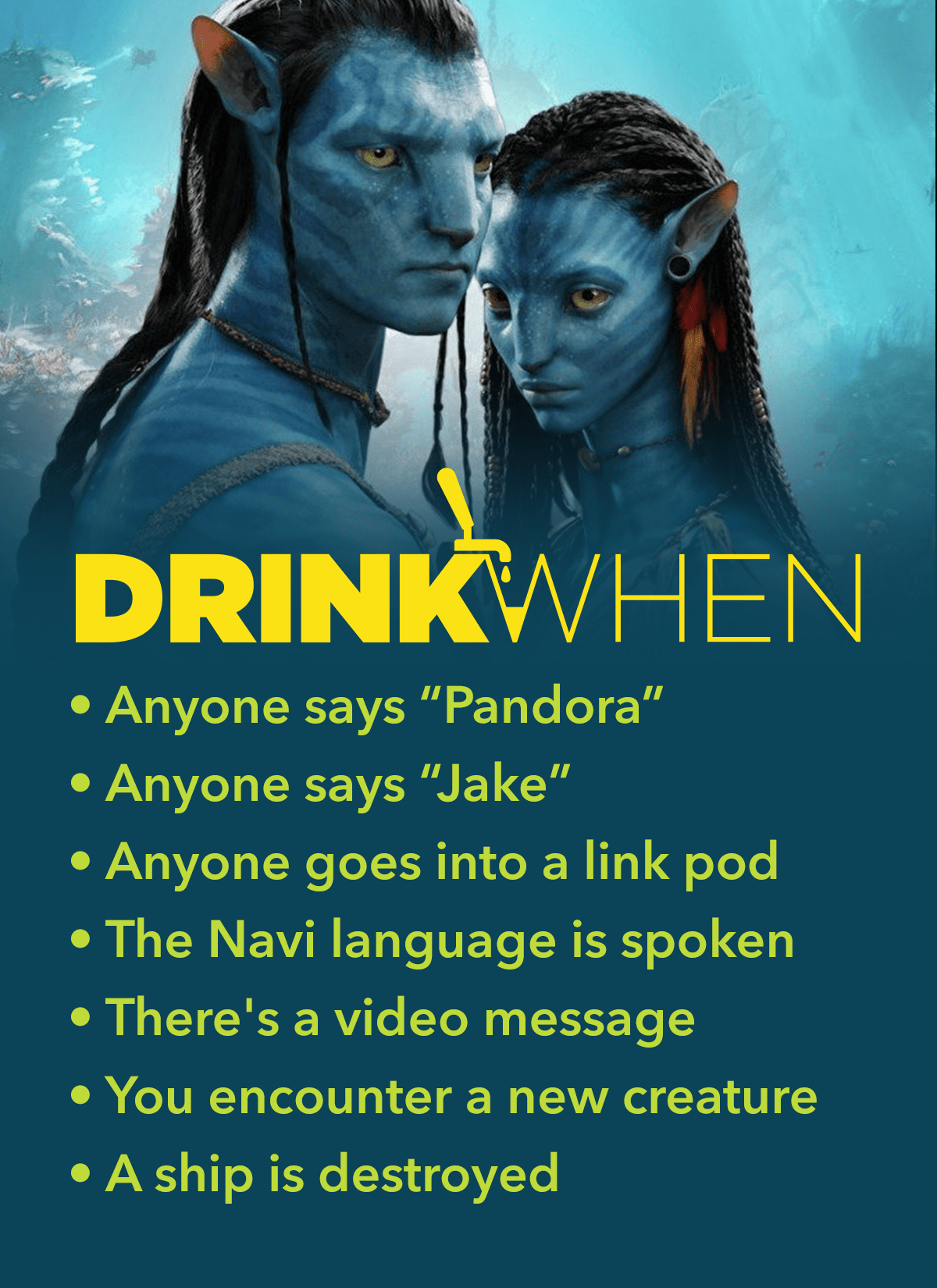 Drink When Avatar Drinking Game