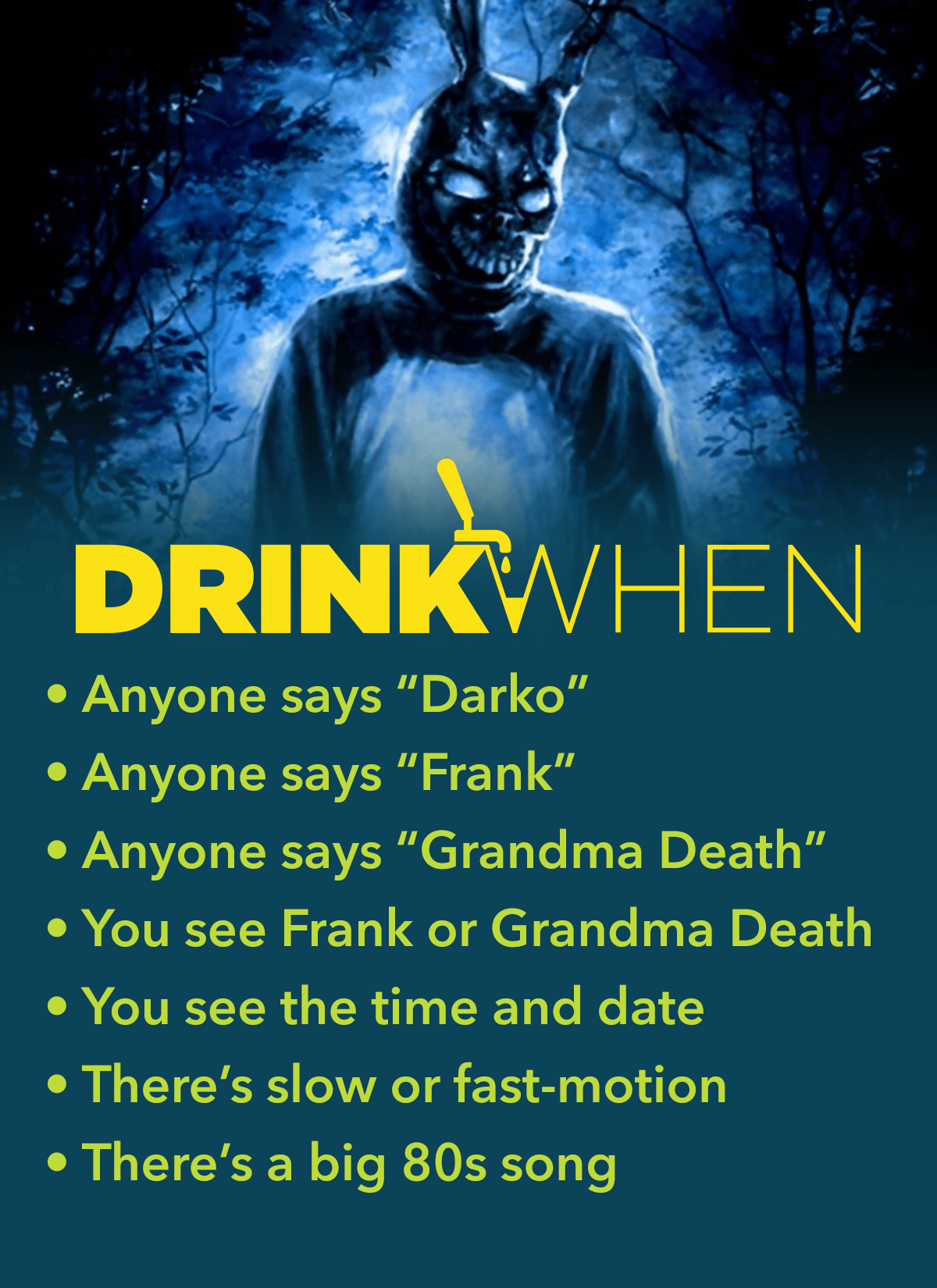Drink When Donnie Darko Drinking Game