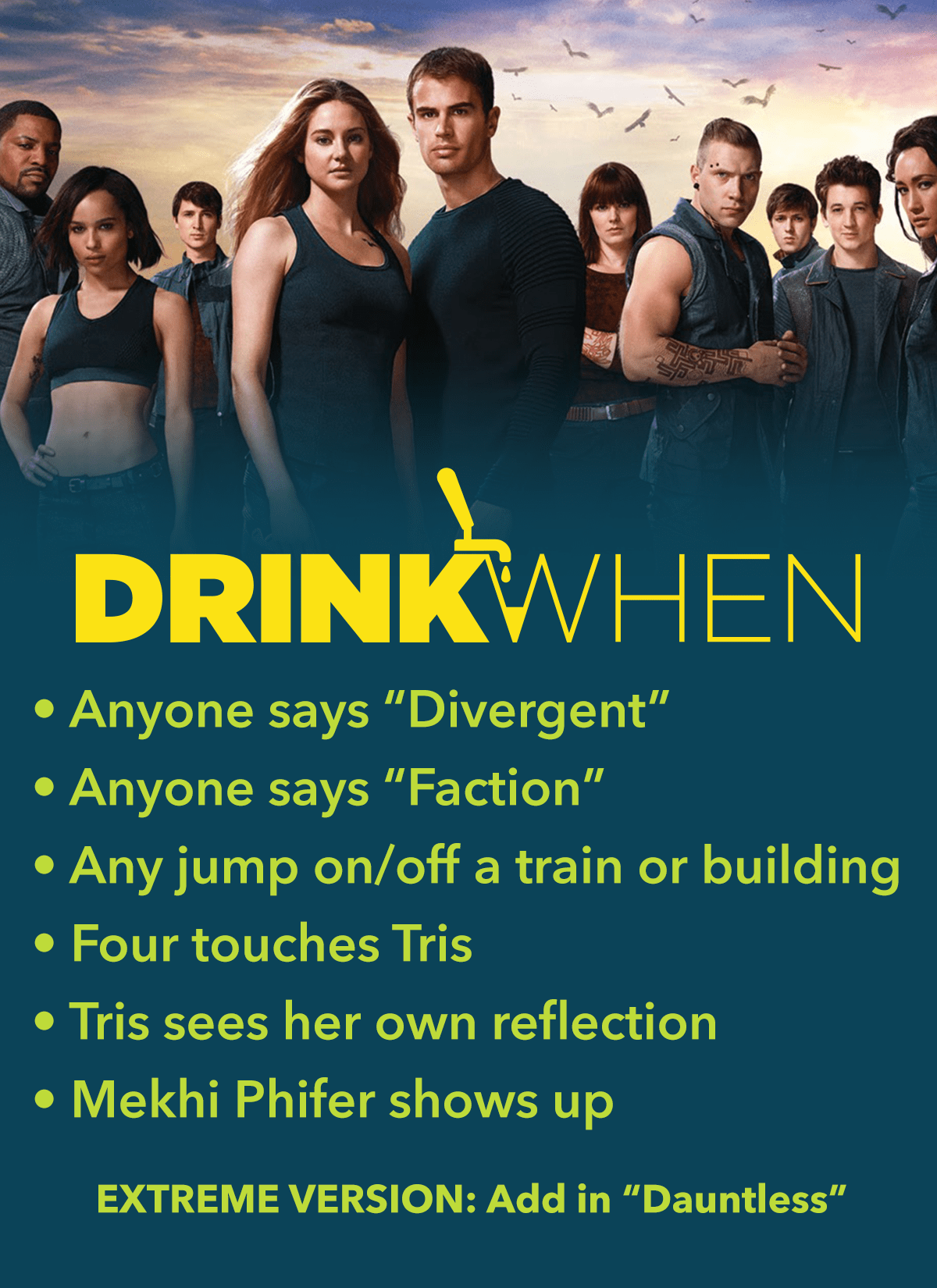 Drink When Divergent Drinking Game
