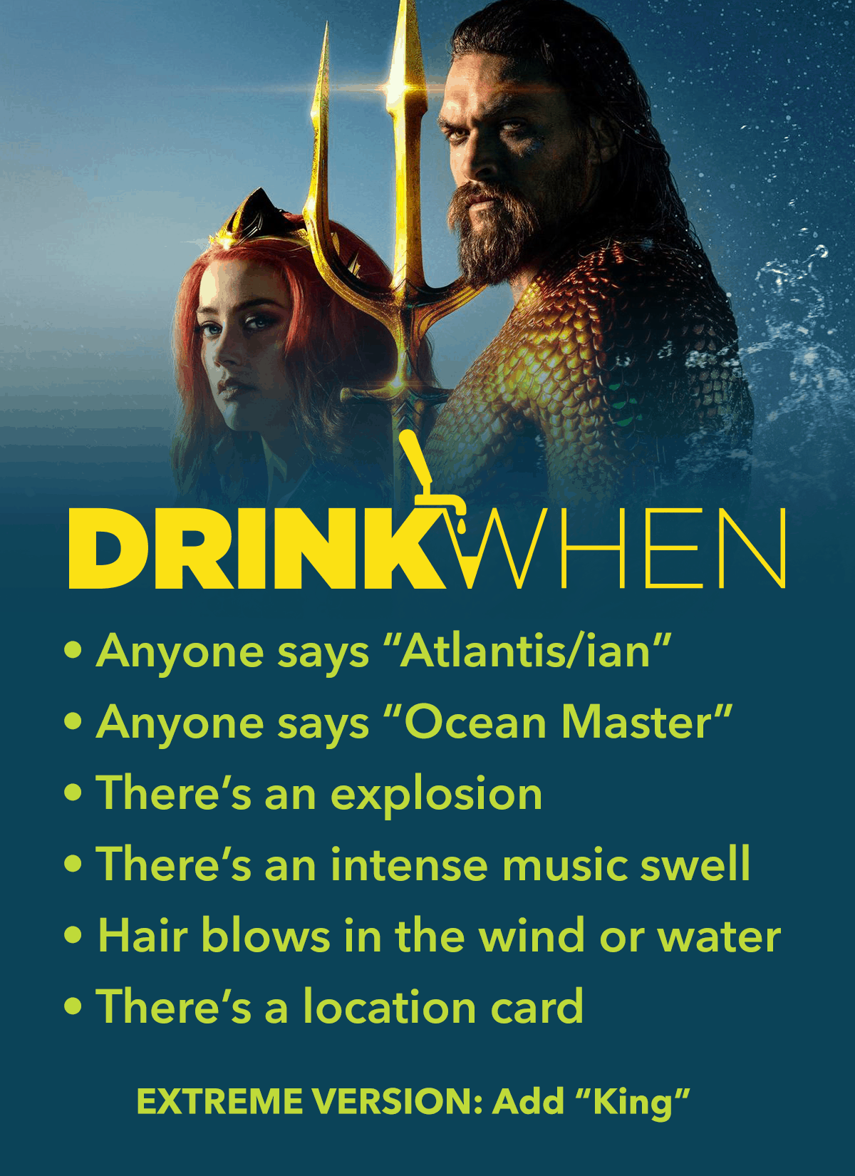 Drink When Aquaman Drinking Game