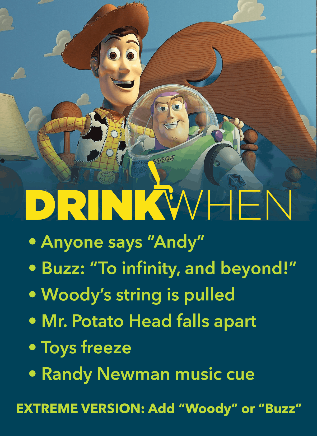Drink When Toy Story Drinking Game